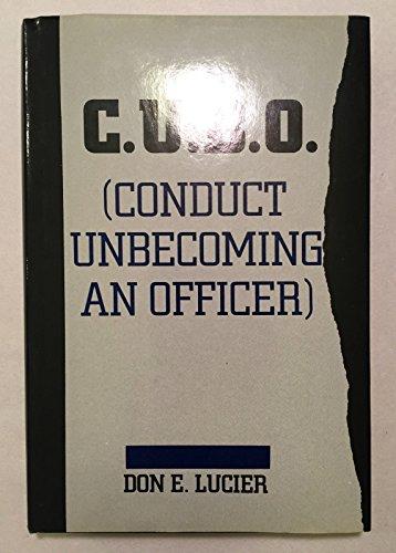 9780533093441: C.U.B.O. (Conduct Unbecoming an Officer)