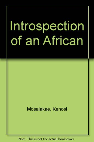 9780533106110: Introspection of an African