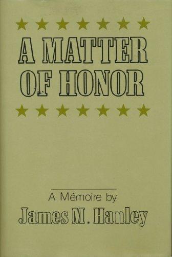 9780533111169: A Matter of Honor: A Memoire