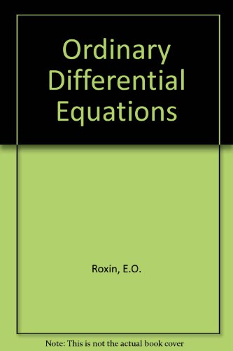 9780534000097: Ordinary Differential Equations
