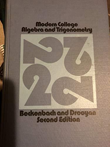 9780534001100: Modern college algebra and trigonometry