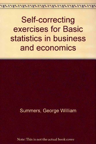 9780534001995: Self-correcting exercises for Basic statistics in business and economics