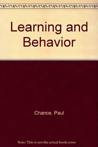 9780534007003: Learning and Behavior
