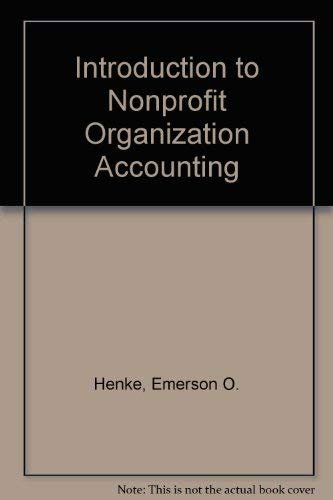 9780534007423: Introduction to Nonprofit Organization Accounting