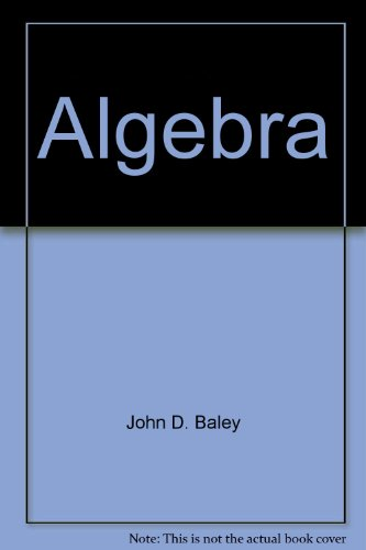 9780534007645: Algebra: A first course