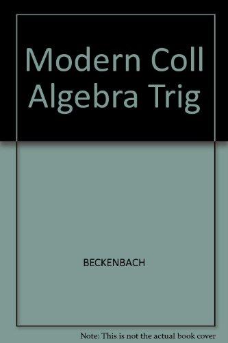 9780534008710: Modern Coll Algebra Trig