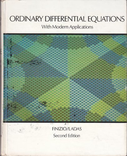 9780534008987: Ordinary differential equations with modern applications
