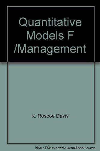 9780534009359: Title: Quantitative models for management