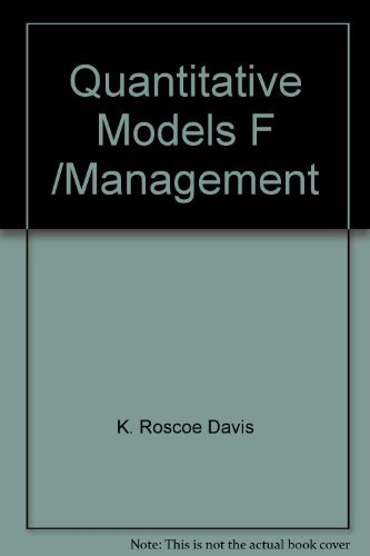 9780534009359: Title: Quantitative models for management