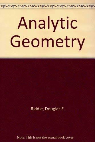 9780534010300: Analytic geometry