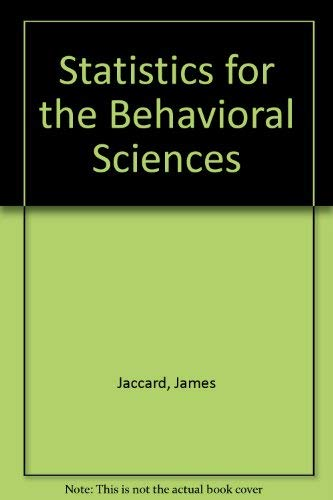 9780534012472: Statistics for the Behavioral Sciences