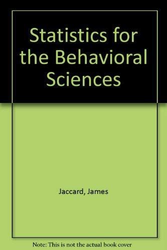 9780534012472: Statistics for the Behavioral Sciences