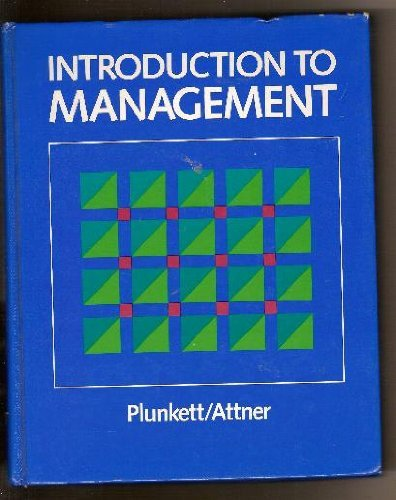 Introduction to management (0534012981) by Plunkett, W. Richard