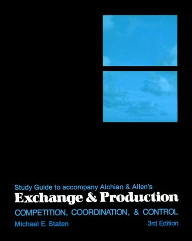 9780534013219: Exchange and Production (Study Guide)