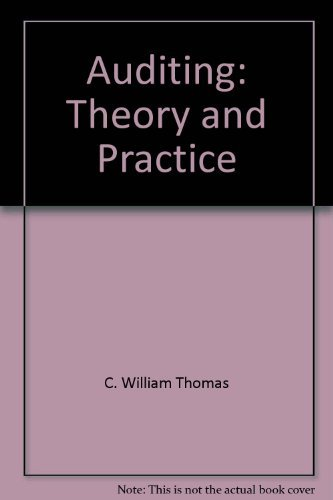 9780534013882: Auditing: Theory and practice