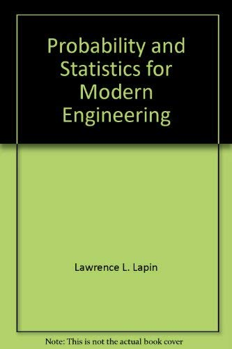 9780534014605: Probability and Statistics for Modern Engineering