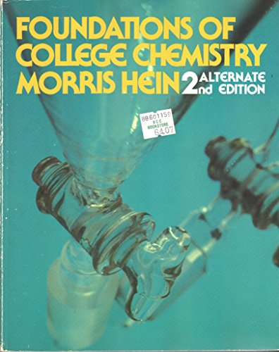 9780534030261: Foundations of College Chemistry (The Brooks/Cole series in chemistry)