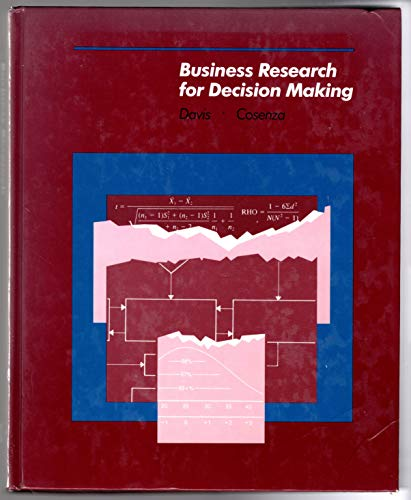 9780534041076: Business Research for Decision Making