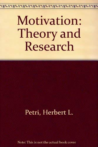 9780534053826: Motivation: Theory and Research