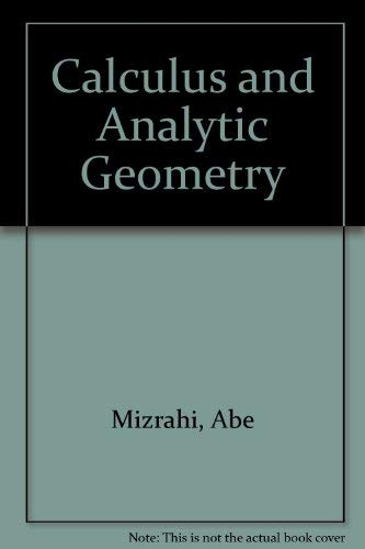 9780534054540: Calculus and Analytic Geometry