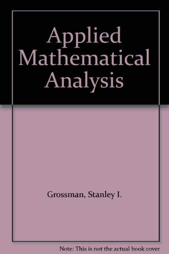 9780534057664: Applied Mathematical Analysis