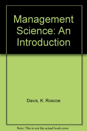 9780534060060: Management Science: An Introduction
