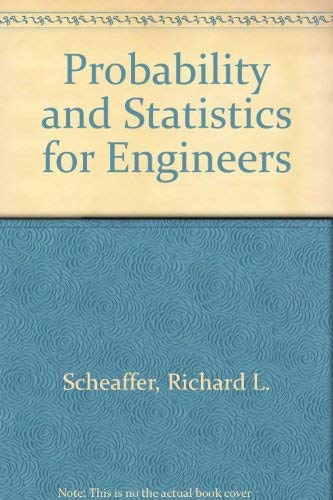 9780534064860: Probability and Statistics for Engineers