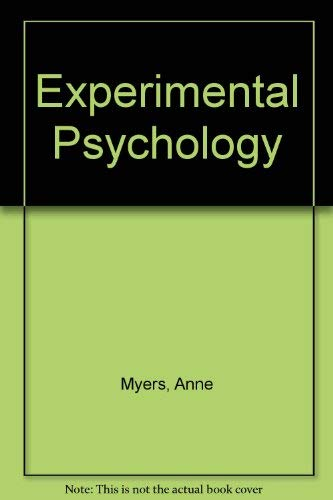 9780534066185: Experimental Psychology