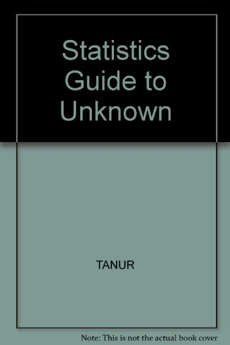 9780534066666 statistics a guide to the unknown abebooks rh abebooks com Basic Statistics statistics a guide to the unknown pdf