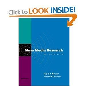 9780534067038: Mass Media Research: An Introduction