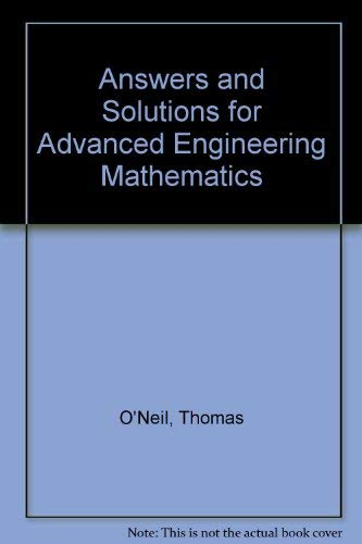 9780534067939: Answers and Solutions for Advanced Engineering Mathematics