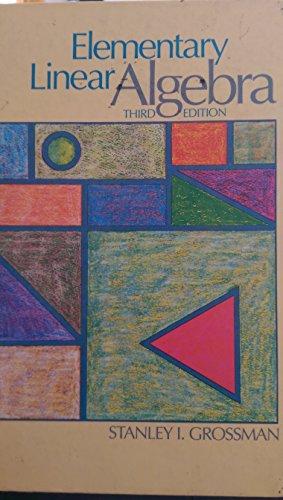 9780534074227: Elementary linear algebra
