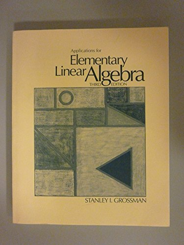 9780534074258: Applications for Elementary Linear Algebra
