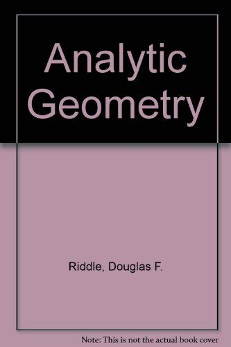 9780534077761: Analytic Geometry