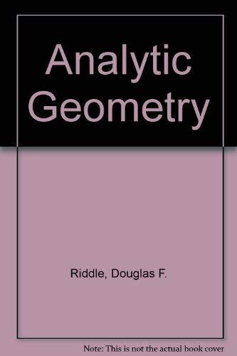 9780534077761: Analytic Geometry