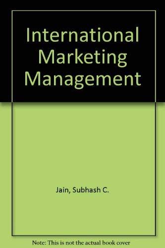 9780534078249: International Marketing Management