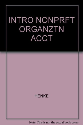 9780534083229: Introduction to Nonprofit Organization Accounting (Kent Series in Accounting)