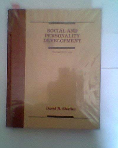 9780534084127: Social and Personality Development
