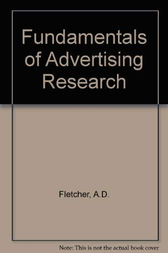 9780534084547: Fundamentals of Advertising Research