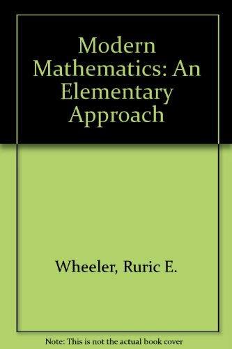9780534085803: Modern Mathematics: An Elementary Approach (Contemporary undergraduate mathematics series)