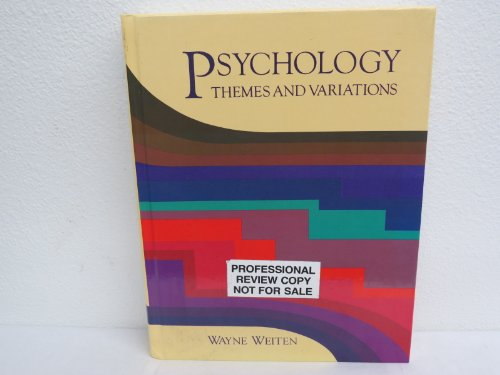 9780534087609: Psychology: Themes and Variations