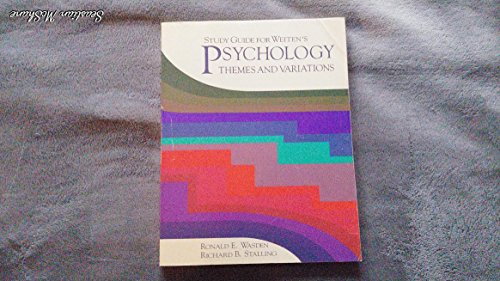 9780534087616: Psychology: Themes and Variations