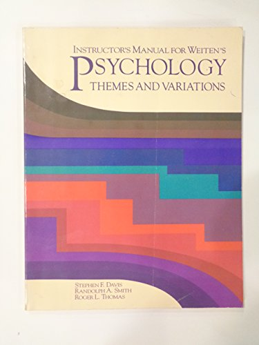 9780534087623: Psychology: Themes and Variations