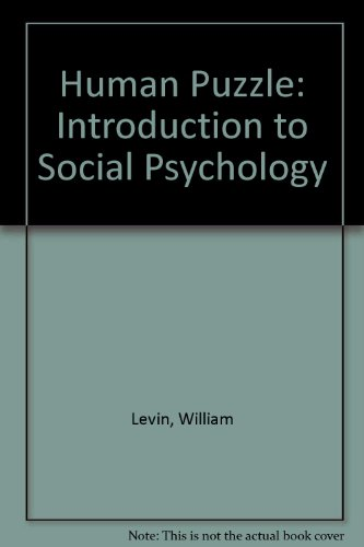 9780534089245: The Human Puzzle: An Introduction to Social Psychology
