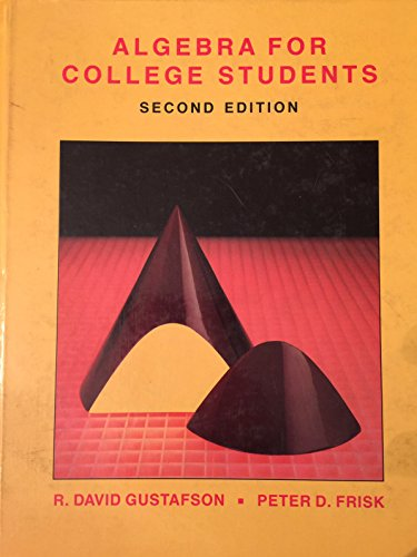 9780534089948: Algebra for College Students
