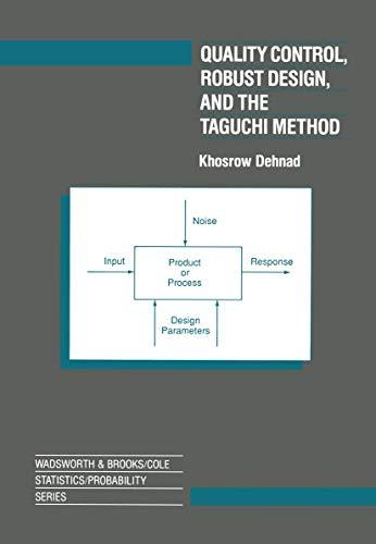 Quality Control, Robust Design, and the Taguchi: Khosrow Dehnad