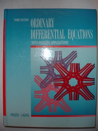 9780534092160: Ordinary Differential Equations With Modern Applications
