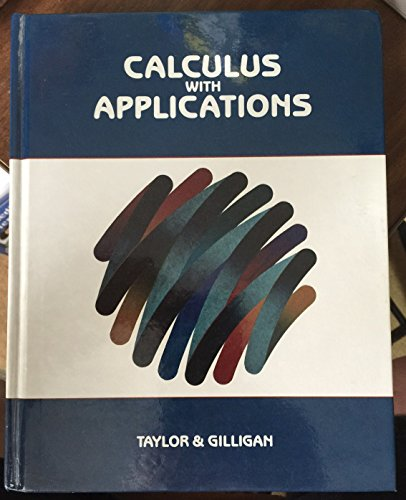 9780534102722: Calculus With Applications