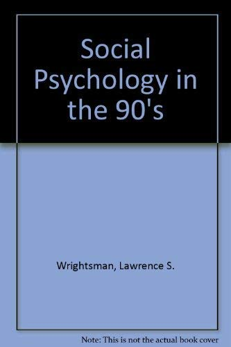 9780534103989: Social Psychology in the 90's
