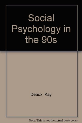 9780534104016: Social Psychology in the 90's: Instructors' Manual